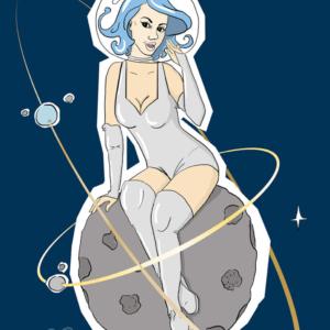 kosmiczna pin-up