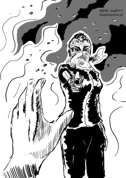 Inktober: scorched