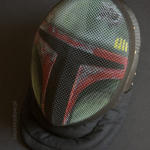 Boba Fett painted fencing mask