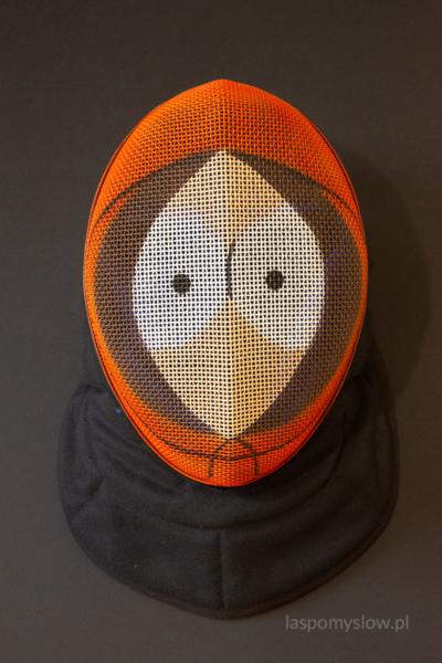 malowana maska szermiercza Kenny
