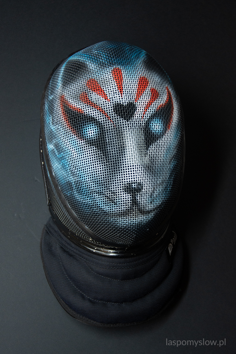 kitsune painted fencing mask