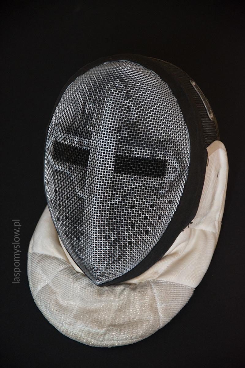 malowana maska szermiercza hełm rycerski