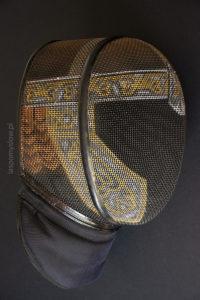 malowana maska szermiercza hełm Gimliego