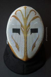 malowana maska szermiercza strażnik świątyni jedi