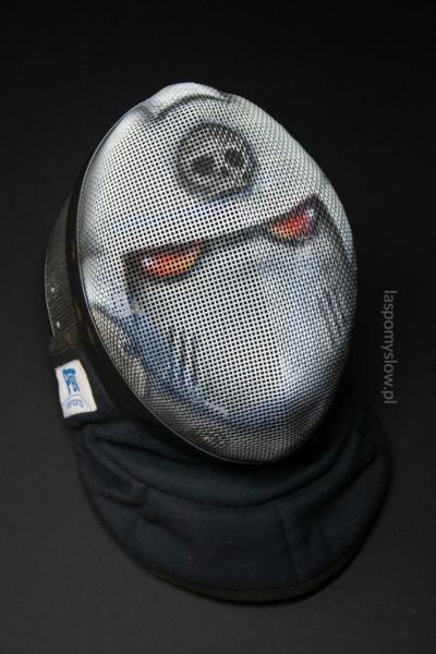 malowana maska szermiercza Raven Guard marine