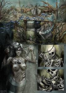Fragment komiksu o syrenie